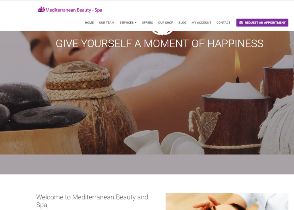 Beauty Spa website Columbus Ohio