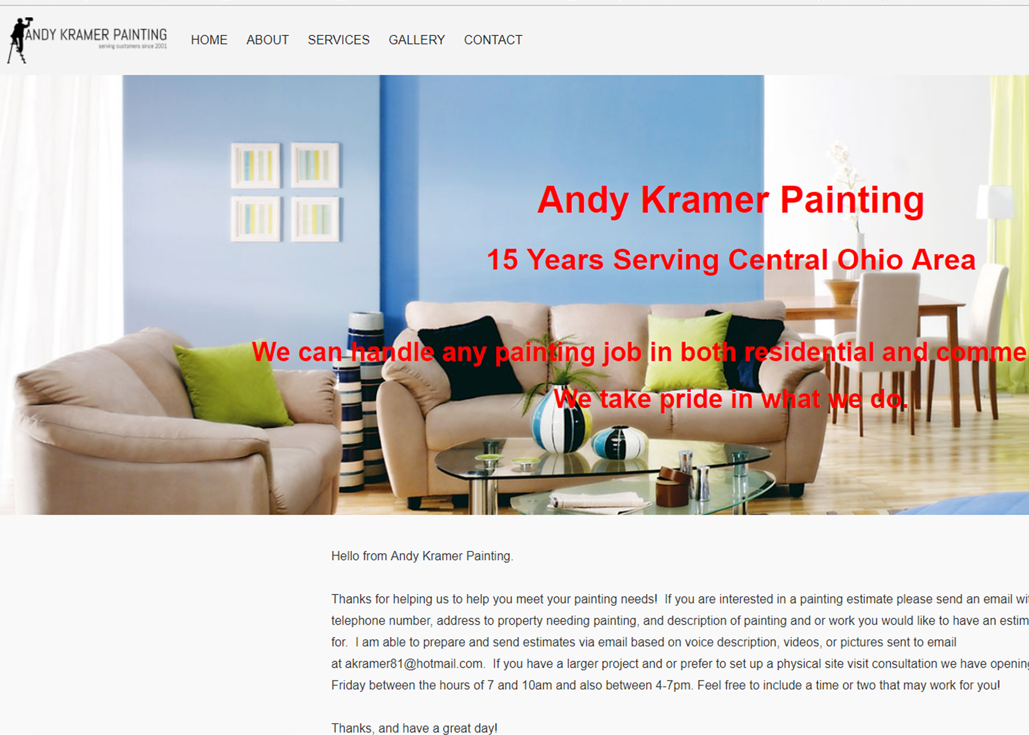 Painting Website Columbus Ohio
