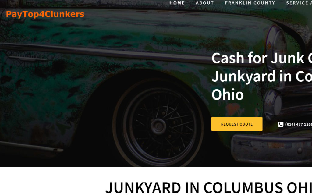 Auto Junkyard Website